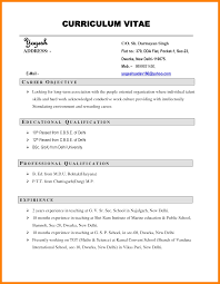 Curriculum Vitae Samples 5 Curriculum Vitae Example For Job Theorynpractice