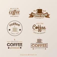 coffee shop logos. Simple Shop Set Of Vintage Logos For Coffee Shops Free Vector For Coffee Shop Logos N