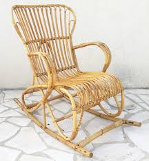 vintage rattan rocking chair 1960s