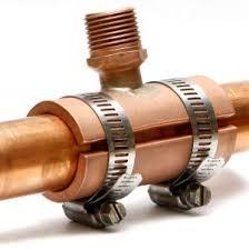 copper pipe repair. Plain Pipe New 1 Inch Saddle Inside Copper Pipe Repair N