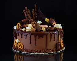Wallpapers Chocolate Cakes Food Cookies Sweets Black Background
