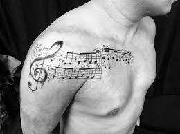 50 Hudebních štábů Tetování Vzory Pro Muže Hudební Směrem