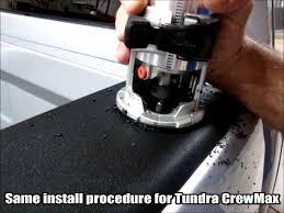 Bullring Installation Toyota Tundra CrewMax Low Profile - YouTube