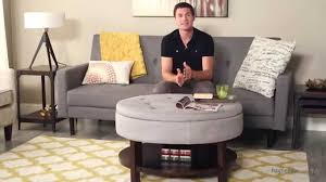 upholstered coffee table storage bench review