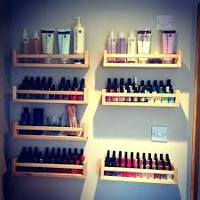 nail polish rack ikea spice shelf toiletries around bathroom light switch racks as book holders display nail polish rack