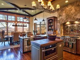 Rustic Lodge Inspired Kitchen Heather Guss HGTV