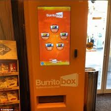 Burrito Vending Machine Franchise Beauteous LA Opens Its First Ever Burrito Vending Machine Daily Mail Online