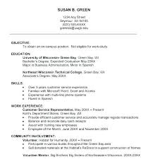 Sample Of A Cv Resume – Businessdegreeonline.co