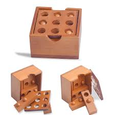 Wooden Strategy Games Wooden Toys Thirty six Strategy IQ Brain Teaser Wood Interlocking 75