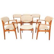 mid century danish modern erik buch dining chair set of six