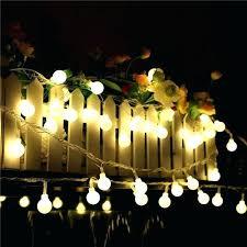 solar powered fairy light garden string lights smart outdoor white crystal ball globe for fence