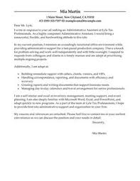 administrative assistant cover letter example covering letter example