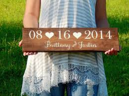 wedding date sign wooden wedding name sign save the date prop wedding photo prop bridal shower gift rustic wedding wedding gift
