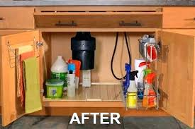 under sink cabinet mats sink base drip tray kitchen sink cabinet open to show pull out