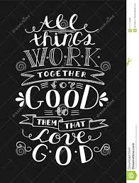 Love Quotes From The Bible Magnificent Bible Background With Hand Lettering All Things Work Together For