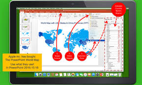 Powerpoint World Map Select Countries By Name No Mistakes