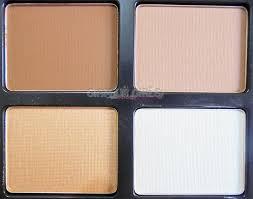 luscious cosmetics face contour kit shades close up