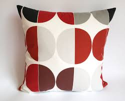 nuwzz pillow cover white burgundy red black grey circles