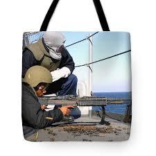 U S Navy Gunners Mate Observes Tote Bag For Sale By Stocktrek Images