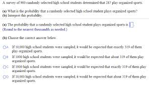 School Survey Questions Solved Statistics A Survey Of 900 Randomly Selected Hig