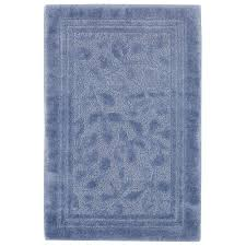 mohawk home wellington 30 in x 50 in nylon bath rug in blue