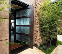 glass front door designs. Modern Pivot Front Entry Door With Frosted Glass Design, Solid Wood Main Entrance Door, Veneer Room Door-in Doors From Home Improvement On Designs