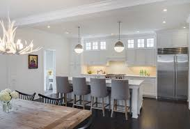 white antler chandelier kitchen transitional with shaker white cabinets transitional bar stools and counter stools