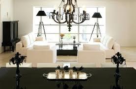 black lamps for living room black crystal chandelier lighting for elegant living room ideas with modern