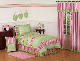 bedroom hot pink lime green ruffle girls bedding twin full queen girl and comforter set