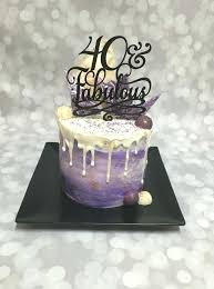 40th birthday cake for male our a little slice of heaven bakery purple and fabulous double