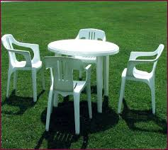 plastic patio table and chairs