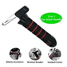 Kiflytooin Car Door Assist Handle Car Portable Handle With Built In Safety Seatbelt Cutter And Window