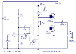 mosfet amplifier circuit diagram ireleast info mosfet amplifier circuits wiring circuit