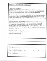 Parent Teacher Conference Scheduling Form Lovetoteach Org