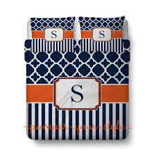 items similar to boho bedding bohemian comforter personalized duvet or moroccan quatrefoil lattice blue and orange