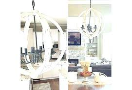 chandeliers white orb chandelier wood distressed wooden company
