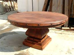 rustic round dining table for 6 endearing rustic round dining room table terrific rustic wood dining