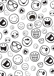 Coloriage Smiley Imprimerl