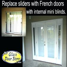 replacing sliding glass door with french doors sliding front door large