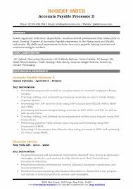 Data Processor Resume Amazing Accounts Payable Processor Resume Samples QwikResume