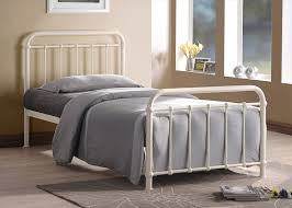 Ivory Traditional Hospital bed Inspired Sprung Slatted Bed Frame in 3FT  Single: Amazon.co.uk: Kitchen & Home