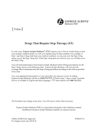 Express Scripts Customer Service Express Scripts Medicare Pdp Value Step Therapy 2017