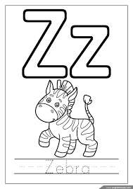 Alphabet Coloring Page Letter Z Coloring