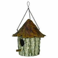 Birdhouse Amazoncom Rivers Edge Oak And Tree Leaf Birdhouse Brown