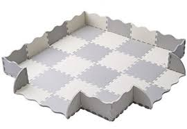 29 baby play mat with fence superjare thick 0 56 interlocking foam floor tiles