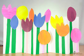Flower Made By Paper Folding How To Make Paper Flowers For Kids