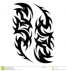Tattoos Ideas Designs Tribal Tattoo Pattern Vector Illustration