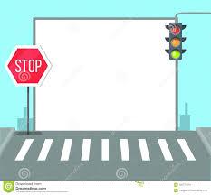 Pedestrian Light Crossing Pedestrian Crossing With Stop Sign Traffic Lights Stock