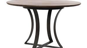 damen 48 brown wood top dining table