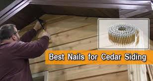 best nails for cedar siding top 5